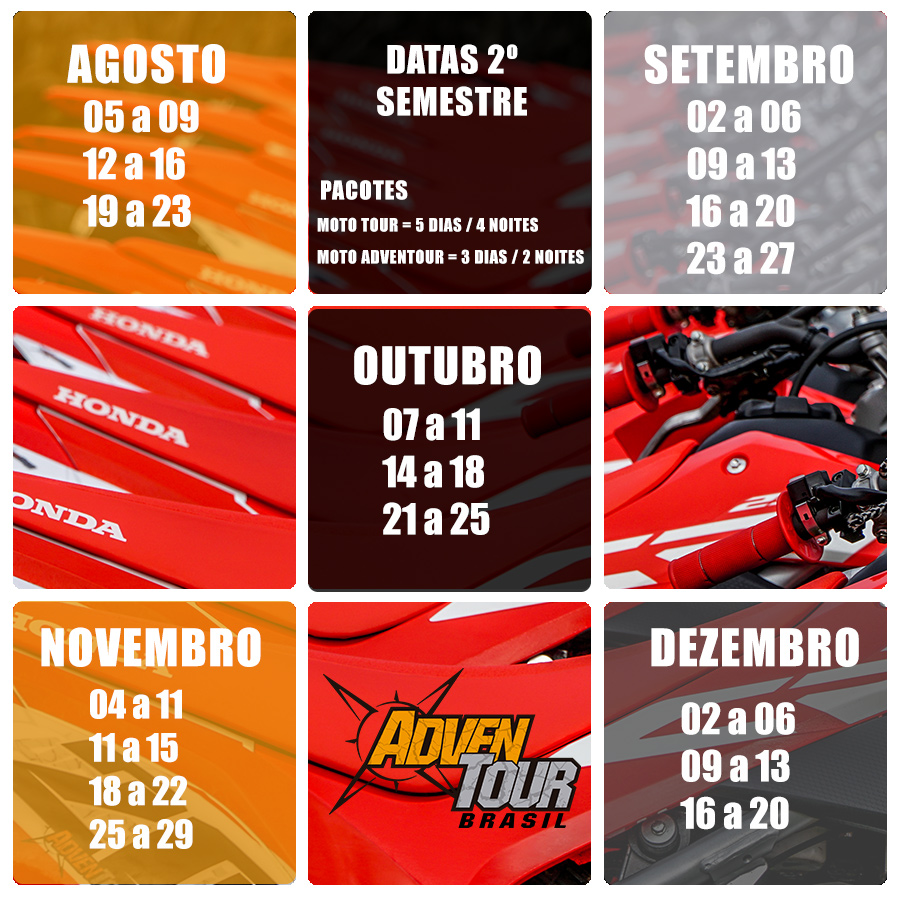 Calendario Moto Tour Adventour